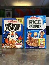 Set 2 Andy Warhol Signed Kelloggandrsquos Frosted Flakes Coa+ Autenthication Signature