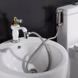 Hot And Cold Water Complete Bidet Kit Faucet Adapter Shataff Muslim Sprayer