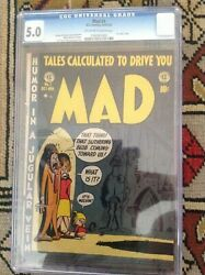 Mad 1. Cgc 5.0 Ec Comics 1952. Off White To White Pages