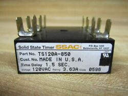 Ssac Ts120a-850 Solid State Timer Ts120a850 1.5 Sec./3.63a