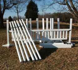6 Jump Package 36pc Wooden Horse Jumps White - Reg 2642