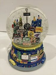 2000 Nyc Brodway Musical Snow Globe Times Square Twin Towers Y2k Millennium