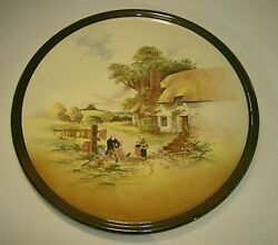 Superb Large Royal Doulton Charger Display Plate .rustic England . 13 1/2