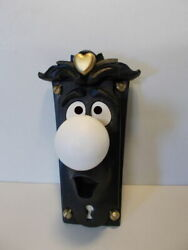 Used Alice In Wonderland Door Knob Hanging Character Prop Black And White Gold