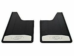 Genuine Oem Ford Super Duty Front Heavy Duty Splash Guards Stainless Steel Logo