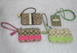 AUTHENTIC COACH WRISTLET WALLETS AND LANYARD 4 PIECE LOT location 10 $59.99