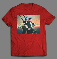 Jack And Rose Titanic Art Movie Shirt High Quality Made In The Usa