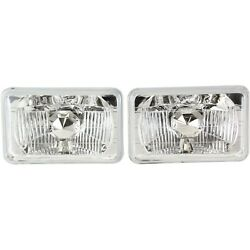 New Set Of 2 Headlights Driving Head Lights Headlamps Chevy Olds Pair