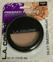 L.A.Colors Pressed Powder with Applicator amp; Mirror Silky Smooth Color Choice
