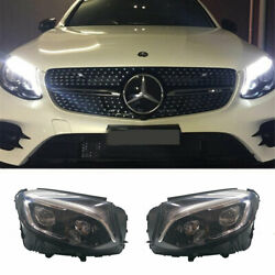 For Benz Glc Led Headlights Projector Led Drl 2016-2019 Replace Oem Halogen