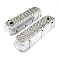 Chevy Bbc 454 Classic Finned Aluminum Valve Covers - Tall W/hole