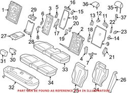 Genuine Oem Seat Cover For Bmw 52207353354