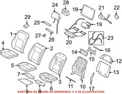 Genuine Oem Seat Cover For Bmw 52107353052