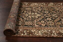 Antique Geometric Hamedan Hand-knotted Wool 13ft Runner Rug Vegetable Dye 3and039x13and039
