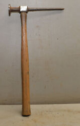Blue-point Vintage Bf-614 Auto Body Hammer Snap On Handle Collectible Mechanics