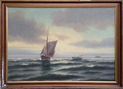 Steen Bille 1890-1953 Sailboat And Tugboat