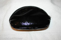 Small Black Cosmetic Bag Pouch Trousse Makeup Bag Lined $7.40