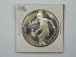 1996 P United States Olympic Table Tennis Commemorative Proof Silver Dollar