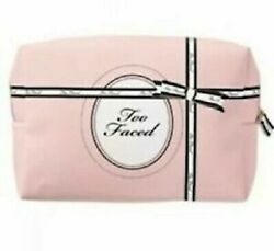 Too Faced Makeup Cosmetic Bag Pink amp; Black New in Package $9.00