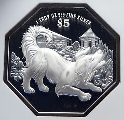 2018 Singapore Lunar Series Astrology - Dog Year Proof Silver 5 Coin Ngc I86646