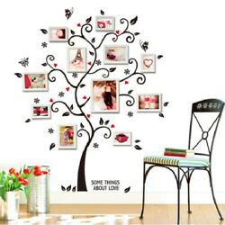 Family Tree Wall Decal Sticker Large Vinyl Photo Picture Frame Removable Home US