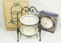 Longaberger Collectors Club Miniature Two Pie Server With Two Pie Plates Boxes