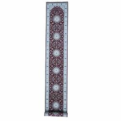 2and0398x24and0398 Wool And Silk 250 Kpsi Red Nain Xl Runner Hand-knotted Rug R59410