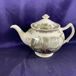 Johnson Brothers Friendly Village Made In England Back Teapot 4 1/2
