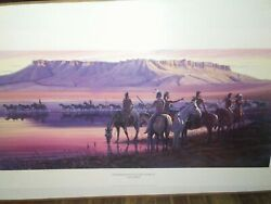 Larry Zable Limited Ed. Raiders Rendezvous At Square Butte S/n 33 Of 500