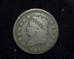 Hsandc 1814 Large Cent Classic Head Cent Vg Crosslet 4 - Us Coin