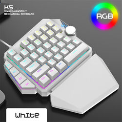 Rgb One-hand Mechanical Keyboard For Computer Host Ps4 Throne Gaming Keyboard