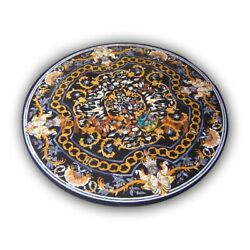 36 Pietra Dura Mosaic Inlay Marble Dining Table Top Interior Home Decorate B431