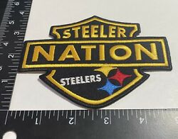 Rare Pittsburgh Steelers ☝️ Iron On Patch 🏈ps07lg