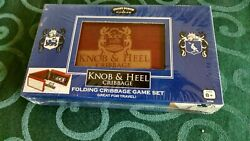 New Knob And Heel Cribbage Folding Game Set Great For Travel Front Porch Classic