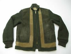 Napoli Suede Vintage Jacket Menand039s Size M Ultra Rare 50s/60s Olive Green/brown