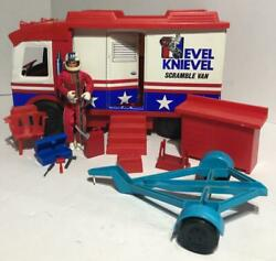 1973 Evel Knievel Scramble Van In Box With Lots Of Accessories And Doll