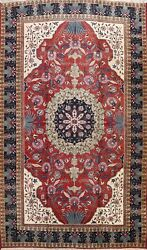 Excellent Vintage Floral Vegetable Dye Heriz Area Rug Wool Hand-knotted 10and039x14and039
