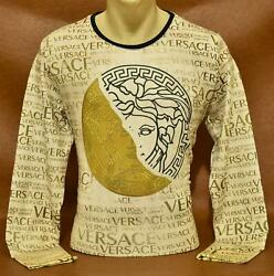 Brand New With Tags Men#x27;s VERSACE Long Sleeve T SHIRT $34.90