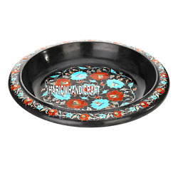 14and039and039x14x4.5and039and039 Black Marble Bowl Marquetry Inlaid Restaurant Free Box Arts H3642
