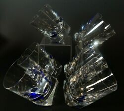 Set Of 6 Baccarat Projection By Thomas Bastide Le Tumblers Cobalt Blue