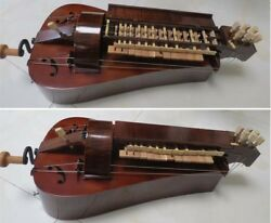 Hand Made Maple Wood 6 Strings 23 Keys Beautiful Hurdy Gurdy Free With Case 2
