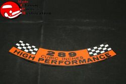 65-67 Ford 289 High Performance Air Cleaner Decal
