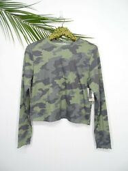 BP. NORDSTROM Long Sleeve Women#x27;s Shirt Camouflage Size L NWT $23.73