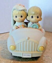 Precious Moments Pull Back Car Just Married In Luv
