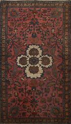 Antique Pre-1900 Floral Lilihan Vegetable Dye Area Rug Hand-knotted Oriental 5x7