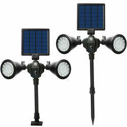 36 Led Solar Powered Lawn Spotlight Motion Sensor Waterproof Outdoor Garden Lamp