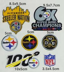 Nfl Pittsburgh Steelers Logo Patch Sport Embroidery , Iron , Sewing On Fabric