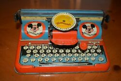 Rare Vintage 1950's Mouseketeer Typewriter Works Well Needs Ribbon Replaced
