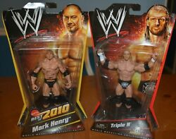 Rare Error Package Batista Figure W/ Mark Henry 2010 Front Card + Free Triple H