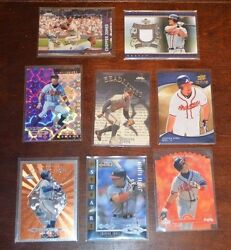 Collection Of 8 Chipper Jones Atlanta Braves Cards Some Rare Chase Pulls Cards